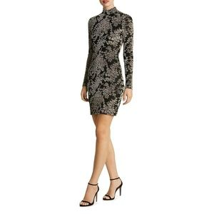 Dress The Population Womens Dana Taupe Velvet Mini